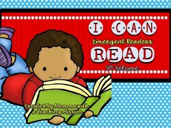 Emergent Readers I can Read Vol 5