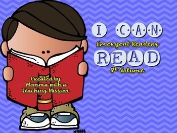 Emergent Readers I can Read Vol 8
