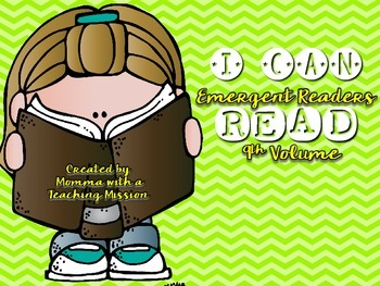 Emergent Readers I can Read Vol 9