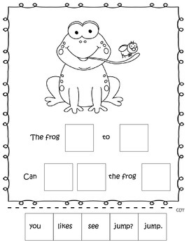 Emergent Readers Level 2 - Cut and paste booklet