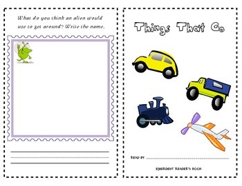 Emergent Readers Mini Book - Things That Go