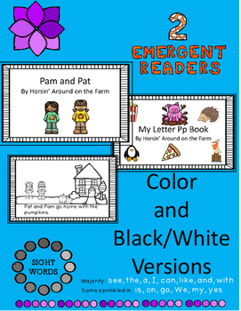 Emergent Readers - Pam and Pat/Letter Pp