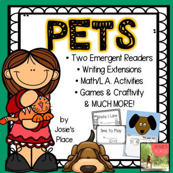 Emergent Readers Pets with LA, Math Activities, & More!