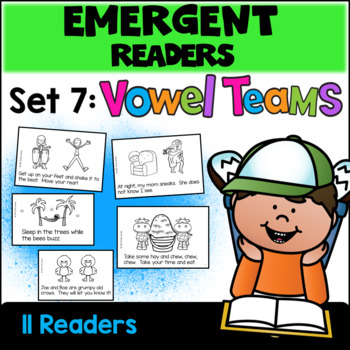 Emergent Readers: Set 7 - Vowel Team Books