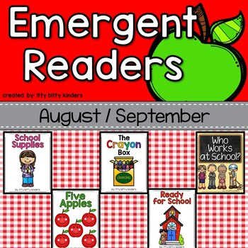 Emergent Readers Set for August and September, Back to School