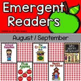 August and September Emergent Readers, Back to School, Apples, School Workers