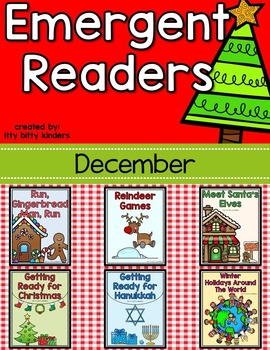 Emergent Readers Set for December: Christmas, Reindeer, Elves, Gingerbread
