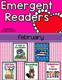Emergent Readers Set for February, Valentines Day
