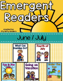 9 Emergent Readers Set for June and July, Summer Packet