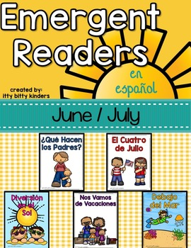 Emergent Readers Set for June and July in Spanish