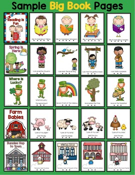 Emergent Readers Set for March, St Patricks Day