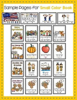 Thanksgiving Emergent Readers Set for November in Spanish