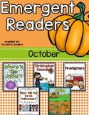 Emergent Readers Set for October, Halloween, Christopher Columbus
