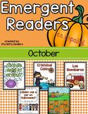 October Emergent Readers in SPANISH, Halloween, Christopher Columbus, Spiders