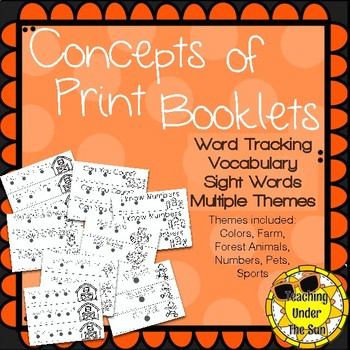 Concepts of Print, Emergent Books, Decodable, Sight Words, Fall Fun, Printable
