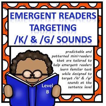 Emergent Readers Targeting /K/ & /G/ Articulation (Level B)