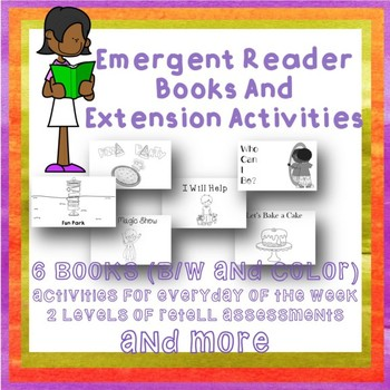 Emergent Readers Unit 6 weeks Activites Games Assessments SPED autsim