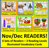 Differentiated Readers + Word Walls for November & December BUNDLE - Save $5.00!
