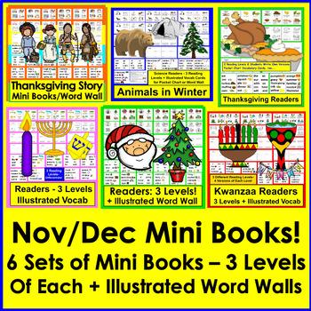 Differentiated Readers for November & December BUNDLE - Sa