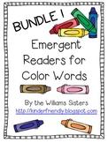 Emergent Readers for Color Words ~ Bundle!