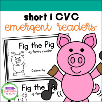 Emergent Readers - short i CVC word family books