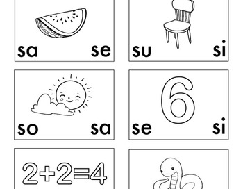 Emergent Reading Activity in Spanish: Las sílabas