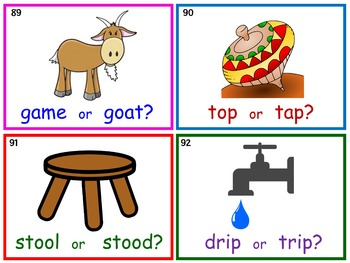 Emergent Reading Fluency and Decoding Skills, Part 1 (Task Cards)