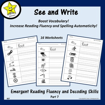 Emergent Reading Fluency and Decoding Skills, Part 7 (See and Write)