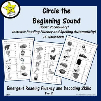 Emergent Reading Fluency and Decoding Skills, Part 8 (Beginning Sounds)
