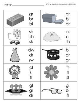 Emergent Reading Fluency and Decoding Skills, Part 9 (Beginning Blends)