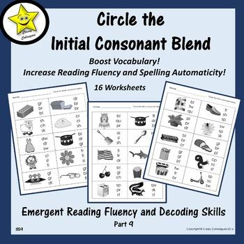 Emergent Reading Fluency and Decoding Skills, Part 9 (Beginning Blends)