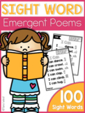 Emergent Sight Word Poems |GOOGLE™ READY WITH GOOGLE SLIDES™| Distance Learning