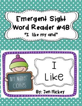 "Emergent Sight Word Reader ""I like my"""