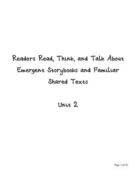 Emergent Storybook Unit Lesson Plans