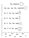 Emergent Student Reader-The Valentine