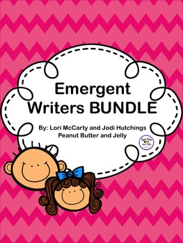 Emergent Writers BUNDLE - writing prompts, steps and rubrics