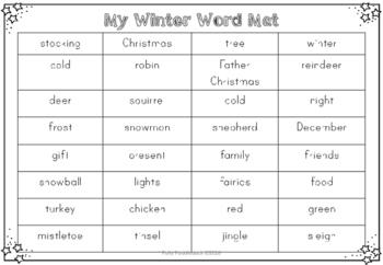 Emergent Writers (Christmas Keywords) Writing Pack for EYFS/KS1