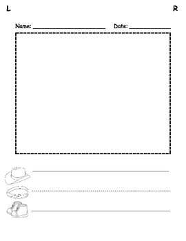 Emergent Writing Paper with Picture Box