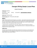 Emergent Writing Sample Lesson Plans