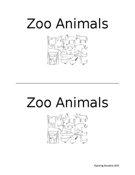Emergent reader- Zoo Animals
