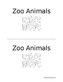 Emergent reader- Zoo Animals