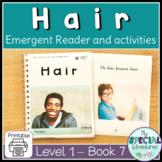 Emergent reader activities- Printable- Hair