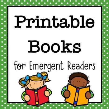 Emergent readers printable books