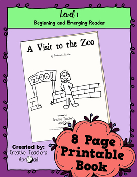 Emerging Reader Book Series: A Visit to the Zoo