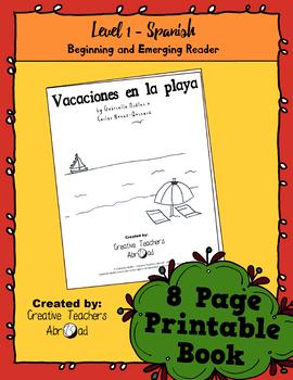 Emerging Reader Book Series: Beach Vacation (Vacaciones en la playa) - Spanish
