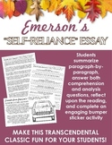 Emerson's Self-Reliance Activities -- Transcendentalism