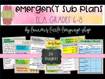 Emgergency Sub Plan Grades 6-8