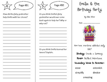 Emilia & the Birthday Party Trifold - 5th Grade Literacy by Design Theme 14