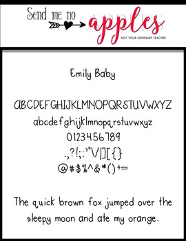 Emily Baby {Emily Font} - Commercial Use Personal Use OK