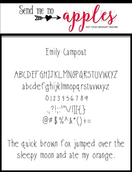 Emily Campout {Emily Font} - Commercial Use Personal Use OK